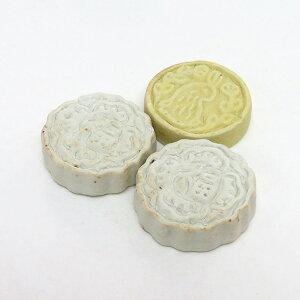 アウトレット品「月餅箸置き」3個セット白×2個 黄×1個陶器 日本製BISQUE(ビスク)