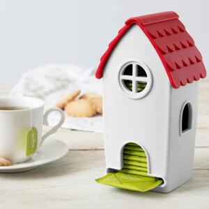OTOTOTea Bag Dispenser「Tea House ティーハウス」ディスペンサー 取り出し容器ティーバック 紅茶おしゃれな 家モチーフ