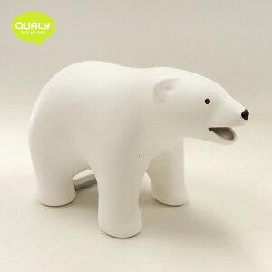 SALE10%OFF!QUALY「ベアーテープディスペンサー」Bear Tape Dispenserテープカッター&クリップホルダーかわいい 文房具(〜11/04.11:00)