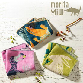 MiW style「3重ガーゼハンカチ」ドードー ワニ ウサギ楠橋紋織 刺繍moritaMiWデザイン