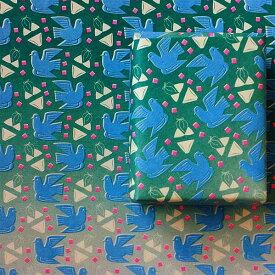 ウィギーカンパニー黒田美恵マルチペーパー万葉集『夏来るらし』包装紙 便箋ブックカバー 一筆箋ラッピングペーパーポップ レトロWIGGIE COMPANY