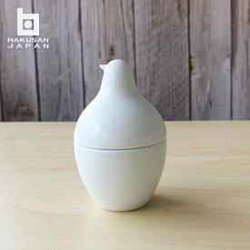 白山陶器とり型蓋付き ようじ立てピッコロ 白磁食器 波佐見焼可愛い オシャレ食器洗浄機 電子レンジOK日本製