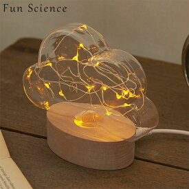 Fun Science「クラウド LEDライト」ライト 関節照明USB電源オブジェ 雲形