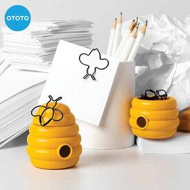 OTOTO「クリップ&マグネティックホルダー」Busy Beesミツバチ クリップホルダーマグネット付きケース