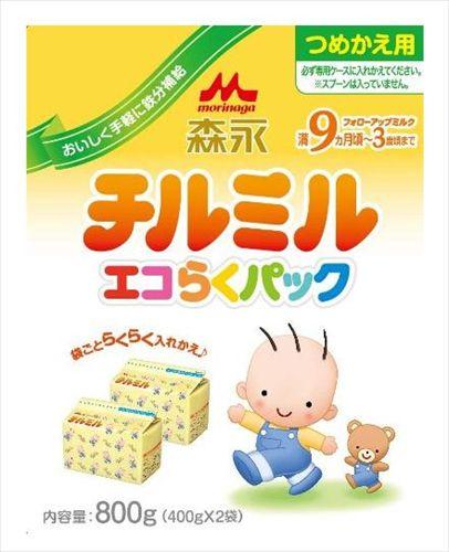 森永乳業 チルミル エコらくパック 詰め替え用400g×2