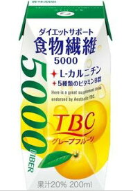 森永乳業 TBC ダイエットサポート食物繊維グレープフルーツ味 プリズマ200ml×24本【1ケース】
