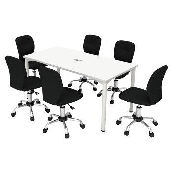 会議テーブル幅180cmホワイト