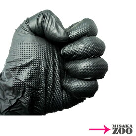 [Mサイズ-184992]Mitani ニトリル使いきり極薄手袋 エンジニア・グローブ Mサイズ 粉なしブラック ダイヤモンド形状グリップ 1小箱(50枚入) 感染症予防対策用品