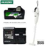 [マルチボルト36V2.5Ahバッテリパッケージ]HiKoki|ハイコーキ36V充電式クリーナーパネルスイッチ仕様本体のみRB18DAx1台+36V2.5AhバッテリBSL36A18x1台+充電器BSL1860x1台