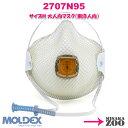 [Mサイズ(東洋人向大人用)|排気弁あり] Moldex 2707N95 N95マスク 使い捨て防じんマスク ハンデイー・ストラップ式 5…