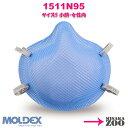 [Sサイズ(小顔・女性向)]Moldex 1511N95 N95マスク 使い捨て防じんマスク ゴムバンド...