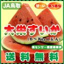 激安お試し価格!光センサー糖度選果済で真っ赤な大栄すいか・美味安心のハイクオリティ送料無料JA鳥取中央