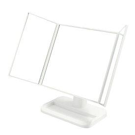 メイクアップミラー 三面鏡 ホワイト NK-242[WH]