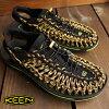 基恩KEEN人涼鞋水鞋UNEEK MNS Uny异丙基苯Black/Green Glow 1013889 FW15