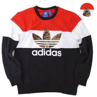 아디다스 オリジナルス 의류 오리 블록 크루 스웨트 셔츠 adidas Originals CAMO BLOCK CREW SWEATSHIRT 남성용 여성용 크루 넥 (AY8614 FW16)