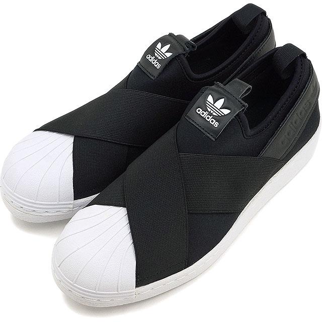 アディダス オリジナルス スーパースター スリッポン ウィメンズ adidas Originals レディース Superstar Slip On W コアブラック/コアブラック/ランニングホワイト 靴 [S81337 SS19]