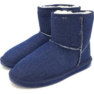 Emu stinger denim mini-EMU Lady's mouton boots Stinger Denim Mini indigo denim shoes (W11377 FW16)