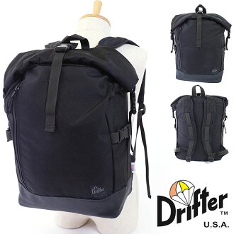 Drifter City line tray hold packed Drifter CITY LINE backpack backpacks TRI HOLD ROLL PACK Black / Black (445 FW16)