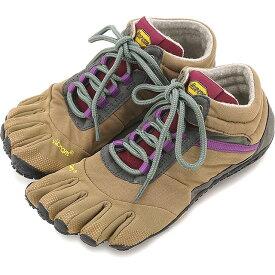 Vibram FiveFingers ビブラムファイブフィンガーズ レディース WMN TREK ASCENT INSULATED Khaki/Grape ビブラム ファイブフィンガーズ 5本指シューズ ベアフット 靴 [15W5304]