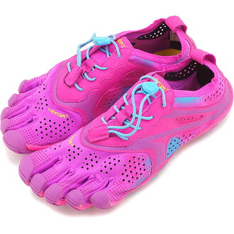 Five Vibram FiveFingers vibram five finger gap Dis WMN V-Run Purple/Blue vibram five fingers finger shoes base-up feet (16W3107)