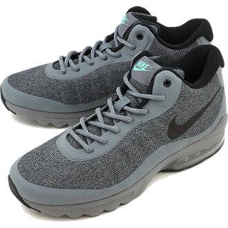 NIKE 耐克运动鞋空气中的最大 INVIGOR MID 耐克 Air Max 大中期酷灰色 / 黑色 / 绿色辉光 (858654-001-HO16)