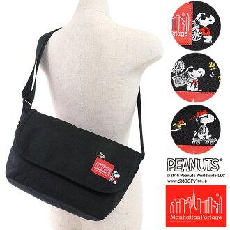 만핫탄포테이지×스누피 캐주얼 메신저 가방 Manhattan Portage PEANUTS SNOOPY Casual Messenger Bag (MP1605JRSSNPY16 FW16)