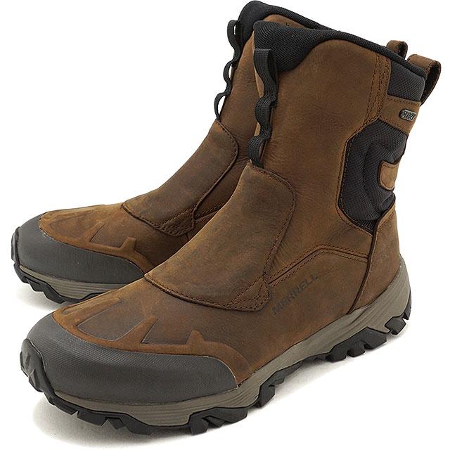 MERRELL メレル メンズ MENS COLDPACK ICE+ 8 ZIP POLAR WATERPROOF コールドパック アイスプラス8 ジップ ポーラー ウォータープルーフ CLAY 靴 (92027 FW17)【コンビニ受取対応商品】