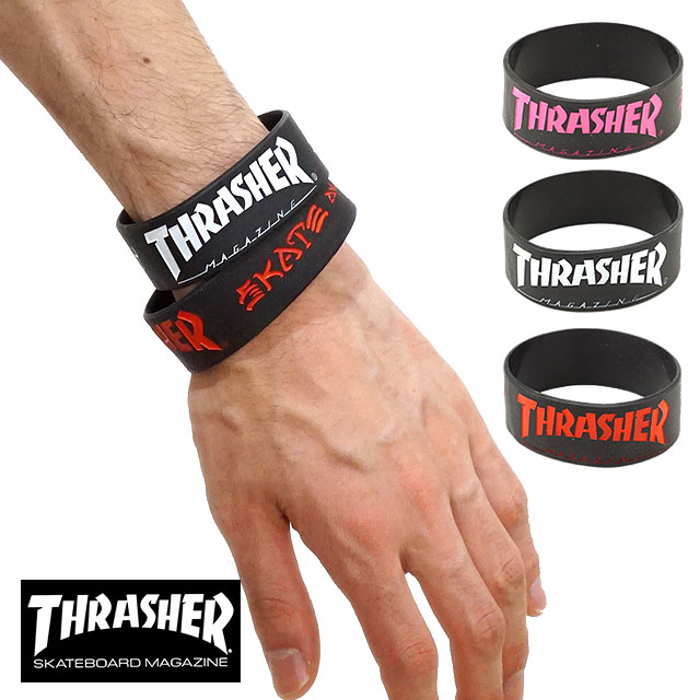 THRASHER スラッシャー ラバーバンド リストバンド (THRRW100 FW17)【メール便可】