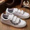 FRED PERRY Fred Perry B721 pudding Ted laurel leather laurel print B721 PRINTED LAUREL LEATHER sneakers shoes men Lady's WHITE (B4237-200 FW18)
