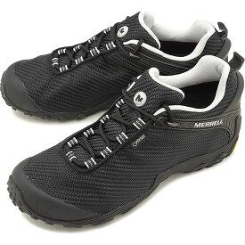 【即納】メレル MERRELL メンズ カメレオン7 ストーム ゴアテックス M CHAMELEON7 STORM GORE-TEX 完全防水 アウトドア トレッキングシューズ 靴 BLACK/BLACK [36475 FW18]