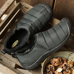 KEENキーンレディーススニーカー靴スリップオンHowserIIWMNハウザー2Monochrome-Black[1011884]