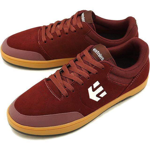 ETNIES エトニーズ MARANA MICHELIN マラナ ミシュラン スニーカー 靴 スケートシューズ スケシュー メンズ・レディース BURGUNDY/TAN/WHITE (FW18)【コンビニ受取対応商品】