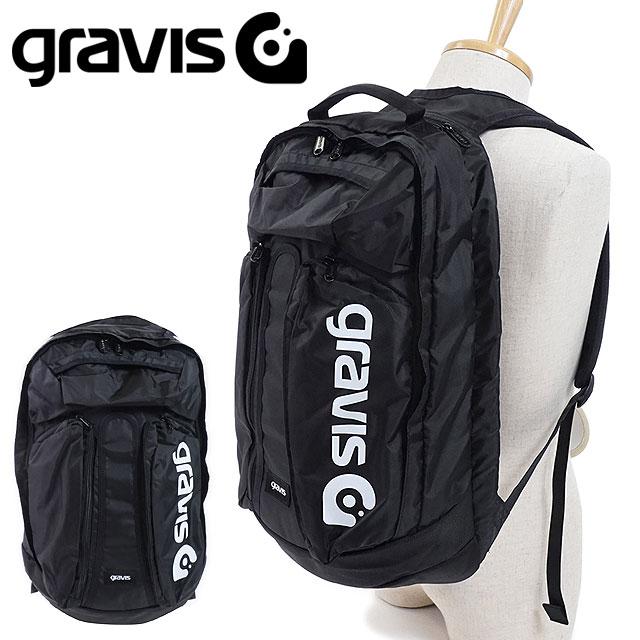 【即納】gravis グラビス リュックサック METRO メトロ バックパック デイパック BLACK (09803 FW18)【コンビニ受取対応商品】