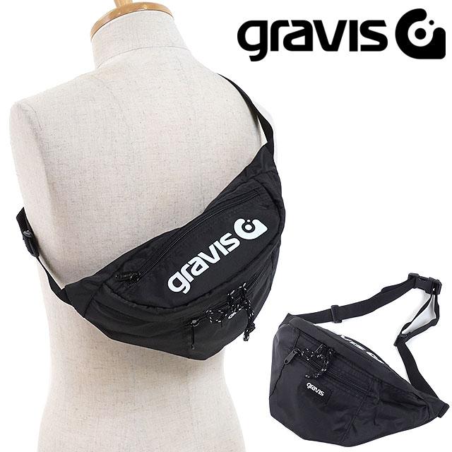 gravis グラビス ウェストポーチ ANNEX 2 アネックス2 ボディバッグ ウェストバッグ BLACK (09804 FW18)【メール便可】
