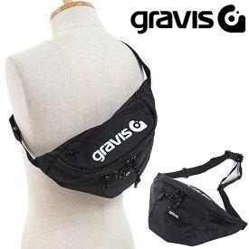 gravis グラビス ウェストポーチ ANNEX 2 アネックス2 ボディバッグ ウェストバッグ BLACK [09804 FW18]【メール便可】