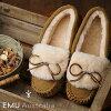 Emu EMU sheepskin farce aide moccasins net tea caph Amity Cuff Lady's mouton shoes Chestnut (W11200 FW18)