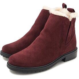 【50%OFF/ラスト1足23.0cm】エミュー EMU メリノウールライニング サイドゴアブーツ 防水レザー パイオニア Pioneer レディース 靴 Red Wine [W11292 FW18][ts][e]