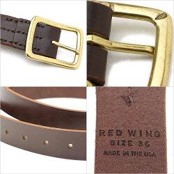 【即納】REDWINGレッドウィング#96561レザーベルト32mm幅LeatherBeltメンズHavanaBrown(96561FW18)【コンビニ受取対応商品】