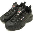 フィラ ヘリテージ FILA ディスラプター 2 DISRUPTOR 2 メンズ・レディース スニーカー 靴 ブラック [F0215-1073 FW18]