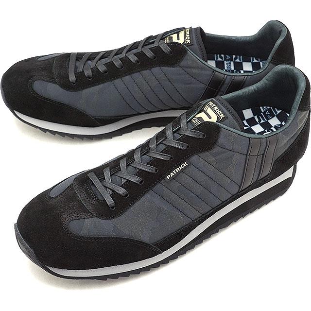 【即納】【返品送料無料】パトリック PATRICK マラソン・カモジャカード MARATHON-CJ メンズ レディース スニーカー 靴 ブラック BK (530871 FW18Q4)【コンビニ受取対応商品】