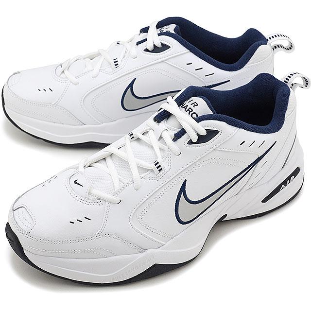 【即納】ナイキ NIKE エア モナーク 4 AIR MONARCH 4 メンズ スニーカー 靴 ホワイト/メタリックシルバー/ミッドナイトネイビー [415445-102 SS19]