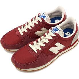 ニューバランス newbalance U220 メンズ レディース Dワイズ スニーカー 靴 RED/GRAY レッド系 [U220HI FW19]