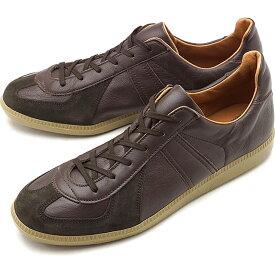 リプロダクション オブ ファウンド REPRODUCTION OF FOUND メンズ ジャーマン トレーナー GERMAN MILITARY TRAINER ミリタリー スロバキア製 スニーカー 靴 DARK BROWN ブラウン系 [1700L FW19]