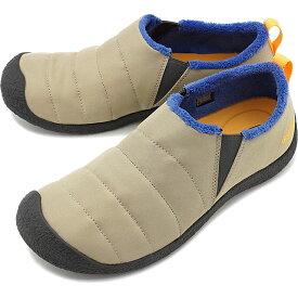 キーン KEEN メンズ ハウザー ツー M HOWSER II アウトドア サイドゴア スリッポン キャンプモック スニーカー 靴 Cornstalk/Mazarine Blue ベージュ系 [1021957 FW19]