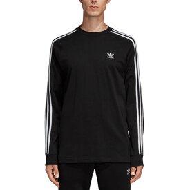 アディダス オリジナルス adidas Originals メンズ スリーストライプ ロングスリーブTシャツ 3 STRIPES LS TEE 長袖 ロンT ブラック系 [FKA11/DV1560 FW19]【メール便可】【メール便送料無料】