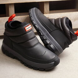 【即納】ハンターHUNTERレディースオリジナルインサレーテッドスノーアンクルブーツWORIGINALINSULATEDSNOWANKLEBOOTウィンターシューズ靴BLACKブラック系[WFS2049WWU-BLKFW19]
