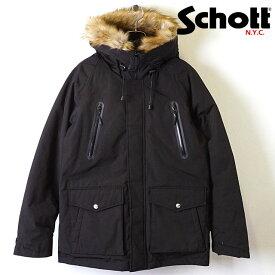 ショット Schott メンズ シュノーケル ダウンパーカー SNORKEL DOWN PARKA ダウンジャケット マウンテンジャケット BLACK ブラック系 [3192035 FW19]