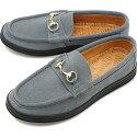 【即納】マネブMANEBUメンズビッチスエードBITCHSUEDEビットローファー靴L.GRAYグレー系[MNB-021BSFW19]