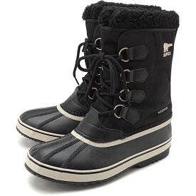 【楽天カードで3倍】ソレル SOREL メンズ 1964 パックナイロン 1964 PAC NYLON メンズ・レディース スノーブーツ ウィンター アウトドア 防寒靴 BLACK/ANSIENT FOSSILブラック系 [NM3487-011 FW19]
