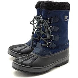 【楽天カードで3倍】ソレル SOREL メンズ 1964 パックナイロン 1964 PAC NYLON メンズ・レディース スノーブーツ ウィンター アウトドア 防寒靴 C.NAVY/BLACKネイビー系 [NM3487-465 FW19]